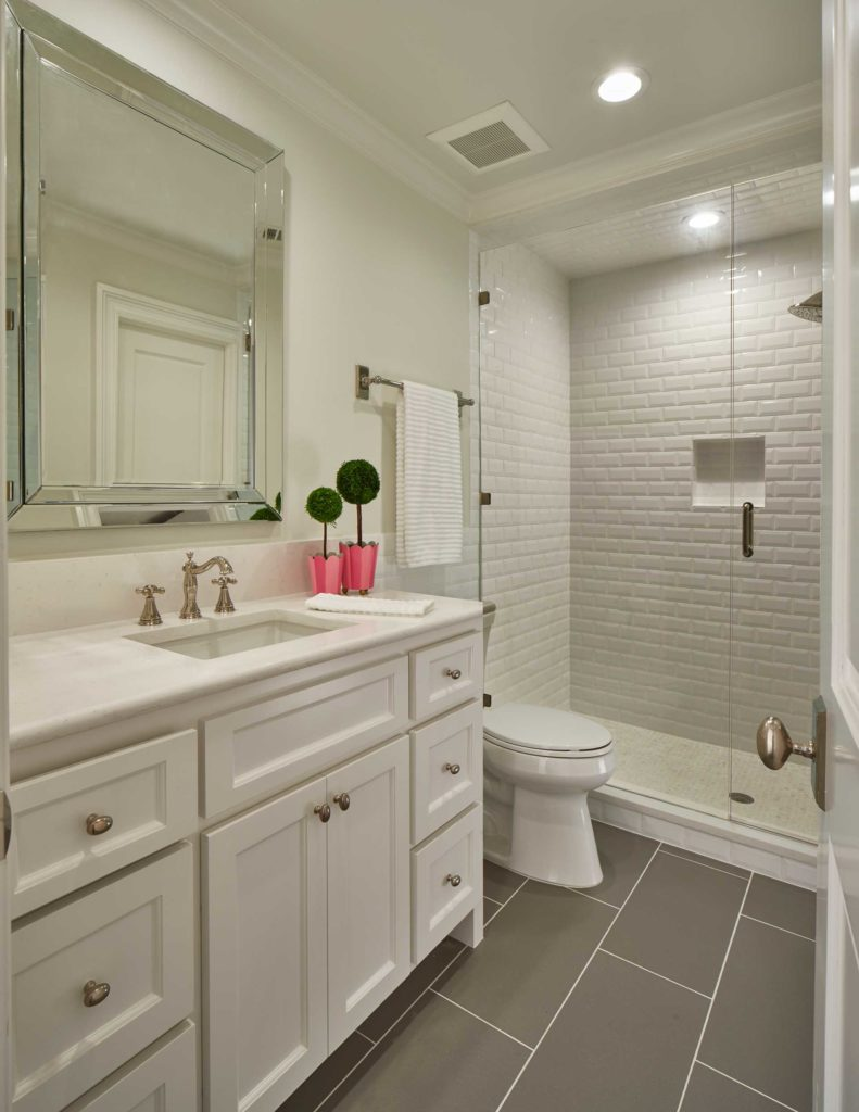 Gray and White Classic Bathroom