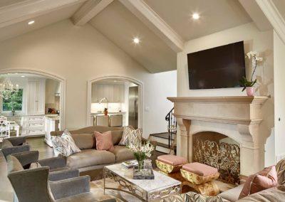 Preston Hollow Luxury Living Room Renovation