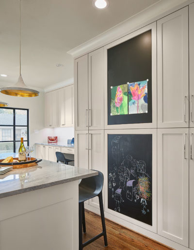 White-Kitchen-with-Black-Chalkboard-in-Highland-Park-Dallas