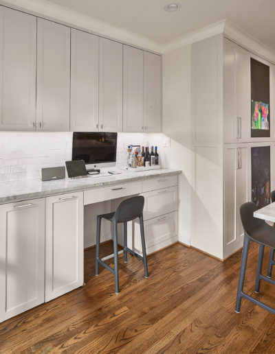 White-Kitchen-with-Office-Space-in-Highland-Park-Dallas
