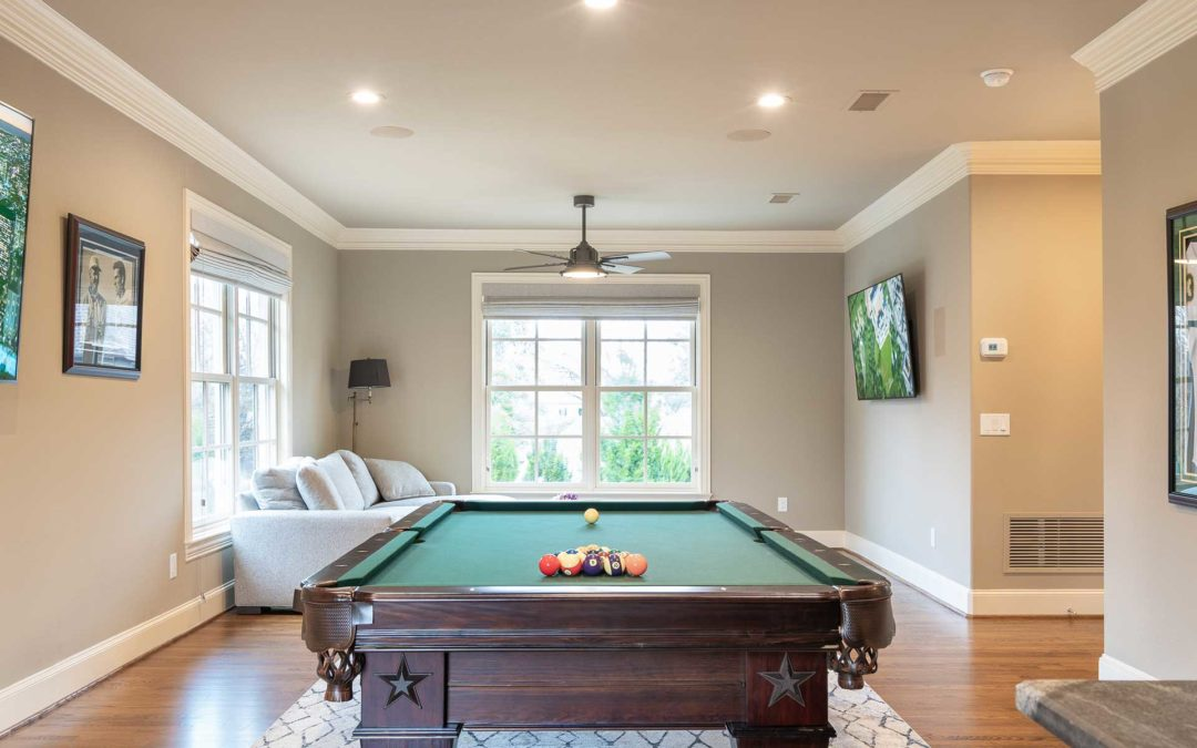 Preston Hollow Game Room & Powder Bath Renovation