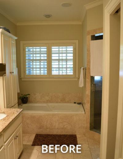 Preston Hollow Modern Luxury Master Bathroom - BEFORE
