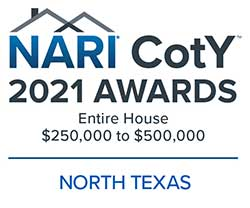 2021 North Texas CotY Logo Entire House $250k to $500k