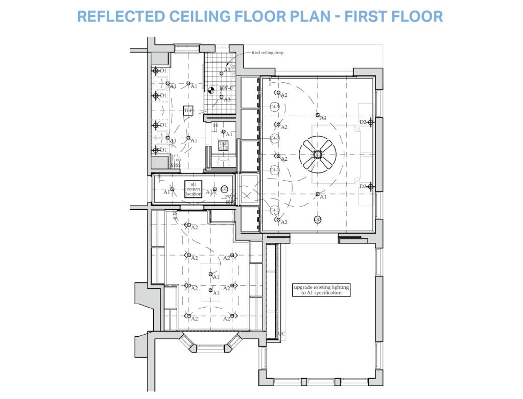 Reflected Ceiling Floor Plan - First Floor