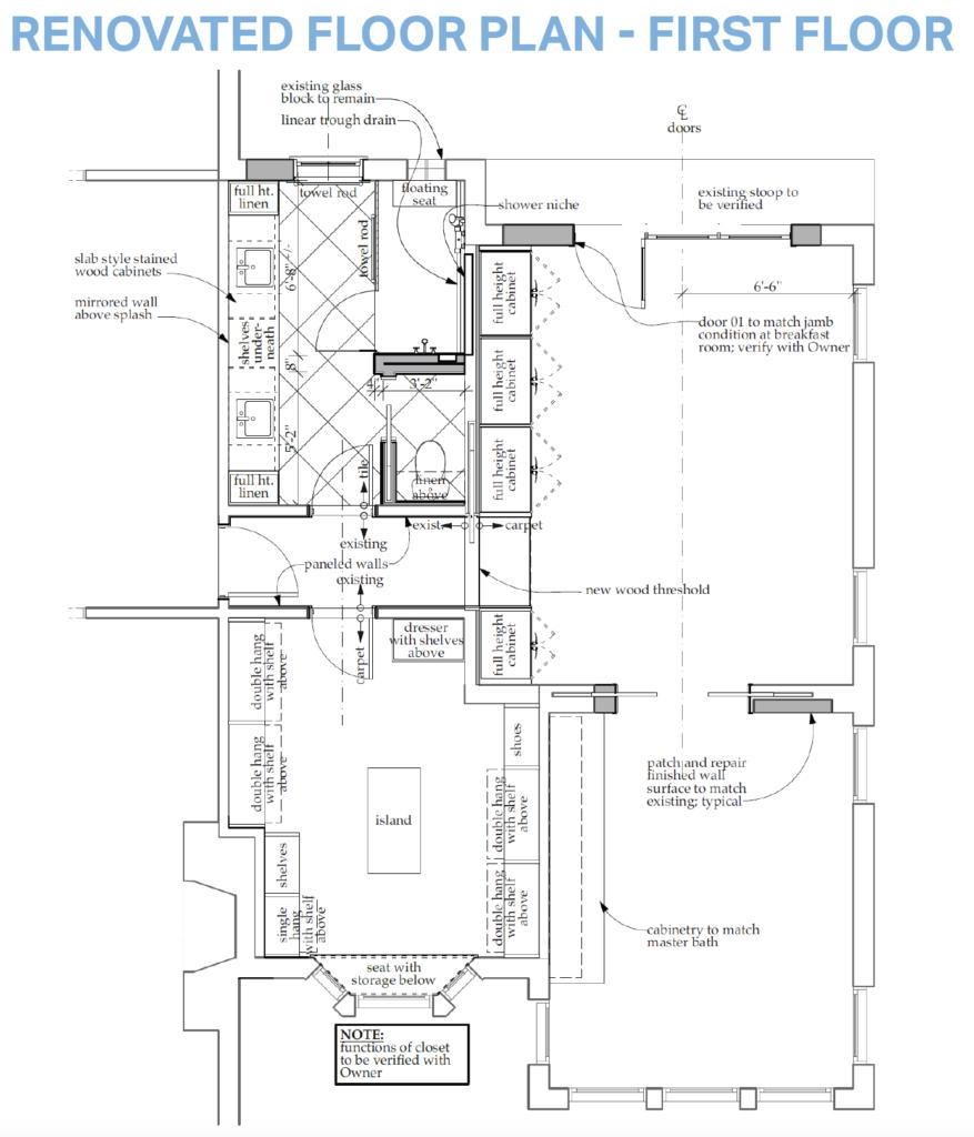 Renovated Floor Plan - First Floor
