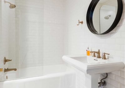 Traditional Classic White Guest Bathroom Remodels in Highland Park