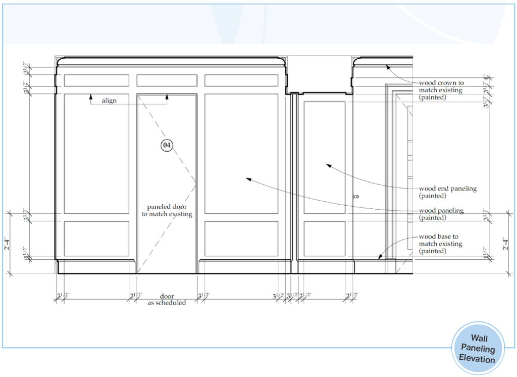 Wall Paneling Elevation