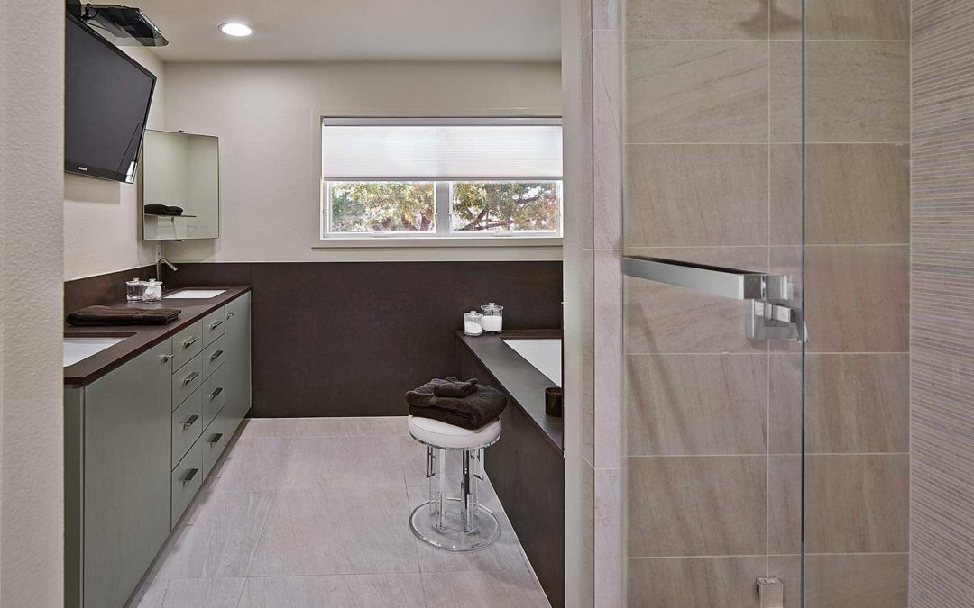 Contemporary Bathroom Remodel in Uptown Dallas