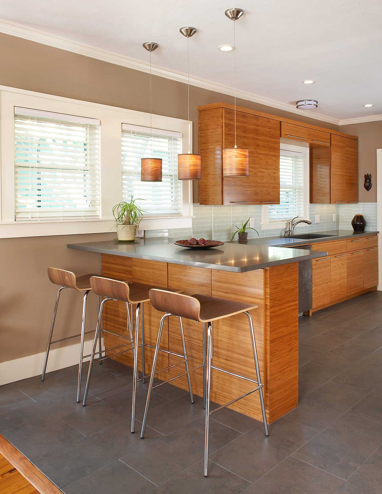 Contemporary Kitchen Remodel in Dallas, Vickery Place Conservation District