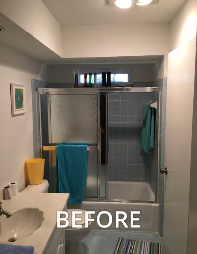 before bathroom renovation north dallas