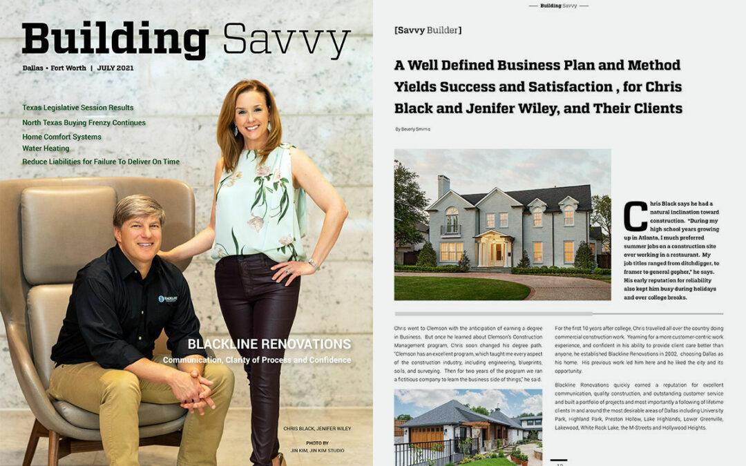 Building Savvy - July 2021