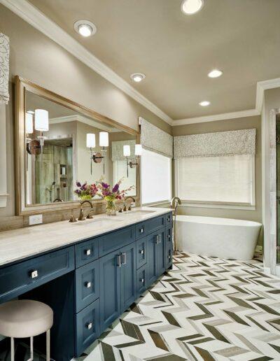 North Dallas Modern Bathroom Oasis Makeover