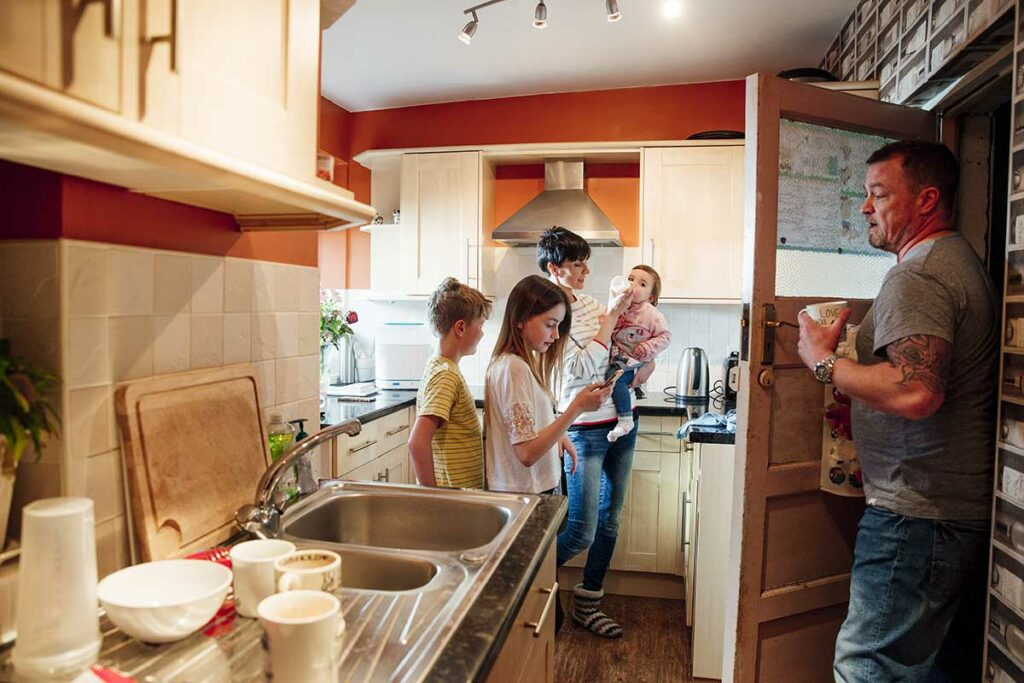 Crowded, Cramped Kitchen