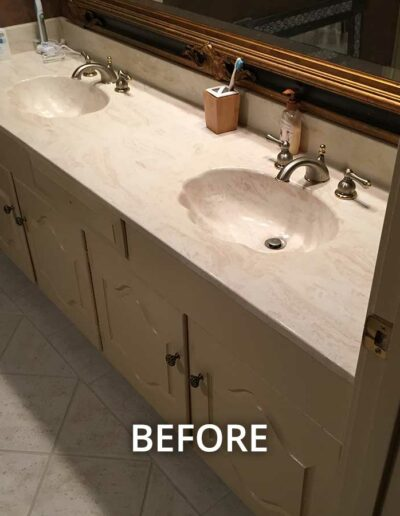 BEFORE - Contemporary Master Bathroom Remodel in Forest Bend, Dallas TX